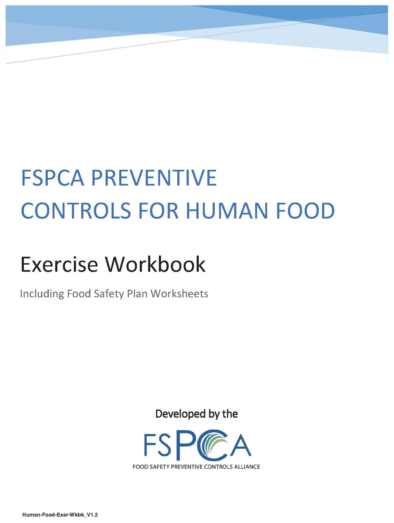 FSPCA Exercise Workbook V1.2