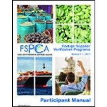 FSPCA Foreign Supplier Verification Programs - Participant Manual V1.1