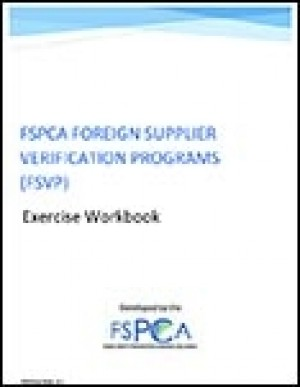 FSPCA Foreign Supplier Verification Programs - Exercise Workbook V1.1